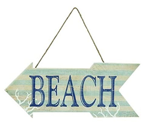 Arrow-Shaped-Wood-Beach-Sign-20-Inches-Wide-0 100+ Wooden Beach Signs and Wooden Coastal Signs