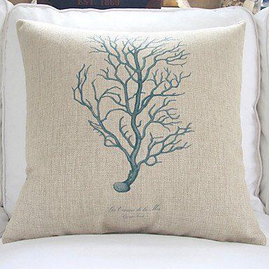 4 Sea Life Theme Decorative Pillow Covers Beachfront Decor