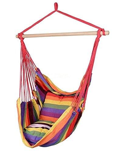 Busen Hammock Hanging Cushioned Rope Sky Air Swing Chair   Beachfront Decor