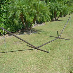 Caribbean-Hammocks-15-Foot-Heavy-Duty-Metal-Tri-Beam-Hammock-Stand-600lb-Capacity-Mocha-model-TRIM-0