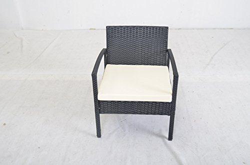 patio garden lawn furniture black pe rattan wicker sofa set 0 2