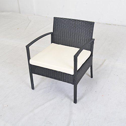 patio garden lawn furniture black pe rattan wicker sofa set 0 3