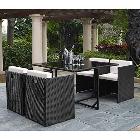 Complete-OutdoorIndoor-5-Piece-Rattan-Wicker-Cube-Dining-Table-Garden-Patio-Furniture-Set-Black-with-Cream-cushions-0-450x450 Best Outdoor Wicker Patio Furniture