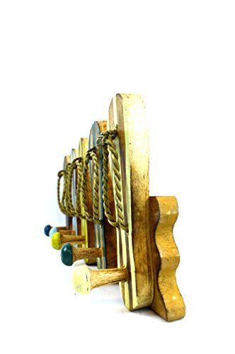 Hand Carved Flip Flop Wall Hanging Art Hooks