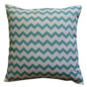 Howarmer-Cotton-Canvas-Aqua-Blue-Decorative-Pillows-Cover-Set-of-4-Beach-Theme-Chevron-Whales-Sea-Horse-Sea-Stars-0-0