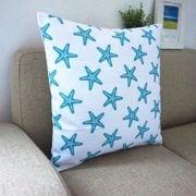 Howarmer-Cotton-Canvas-Aqua-Blue-Decorative-Pillows-Cover-Set-of-4-Beach-Theme-Chevron-Whales-Sea-Horse-Sea-Stars-0-3