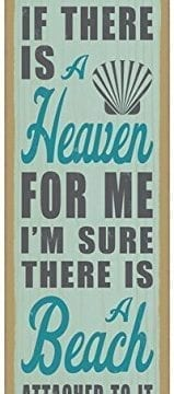 If-there-is-a-heaven-for-me-Im-sure-there-is-a-beach-attached-to-it-Jimmy-Buffett-beach-primitive-wood-plaques-signs-measure-5-x-15-size-0-159x360 100+ Wooden Beach Signs & Wooden Coastal Signs