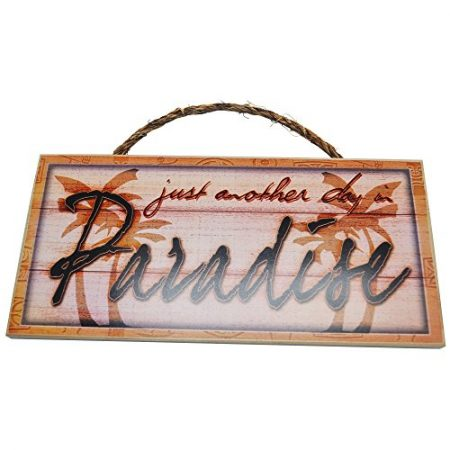 Just-Another-Day-In-Paradise-Vintage-Wood-Sign-For-Beach-House-Wall-Decor-Or-Gift-PERFECT-BEACH-HOUSE-DECOR-0-450x450 100+ Wooden Beach Signs and Wooden Coastal Signs