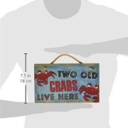 New-Vintage-Wood-Hanging-Wall-Sign-Two-Old-Crabs-Live-Here-Distressed-Plaque-Cozy-Beach-Cottage-Decor-Art-0-0