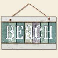 New-Weathered-Wood-Beach-Sign-Coastal-Wall-Plaque-Decor-0 100+ Wooden Beach Signs & Wooden Coastal Signs