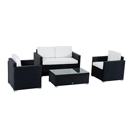 Outsunny-4-Piece-Cushioned-Outdoor-Rattan-Wicker-Sofa-Sectional-Patio-Furniture-Set-0-450x450 Best Outdoor Wicker Patio Furniture