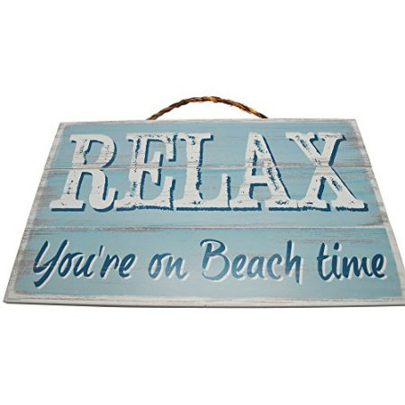 RELAX-Your-On-Beach-Time-Vintage-Wood-Sign-For-Beach-House-or-Home-Wall-Decor-Or-Gift-PERFECT-BEACH-HOUSE-DECOR-0-450x450 100+ Wooden Beach Signs and Wooden Coastal Signs