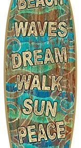 SJT41303-Beach-Signs-5-x-16-Surfboard-Wood-Plaque-Sign-0