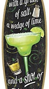 SJT41305-Margarita-Take-life-with-a-grain-of-salt-a-wedge-of-lime-and-a-shot-of-Tequila-5-x-16-Surfboard-Wood-Plaque-Sign-0
