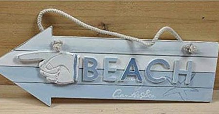 Small-Wood-Arrow-Beach-Sign-0-450x234 100+ Wooden Beach Signs and Wooden Coastal Signs