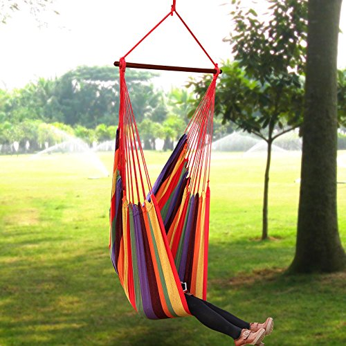 large swing hammock chair hanging seat balcony patio garden air deluxe sky diy hardware