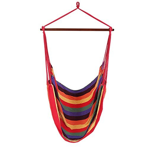 hanging hammock chair indoor air porch swing large seat balcony patio garden with two cushions