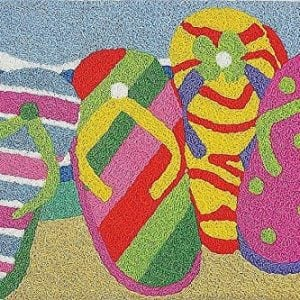 Summer-Flip-Flops-in-the-Sand-Washable-21-X-33-Area-Accent-Jellybean-Rug-0