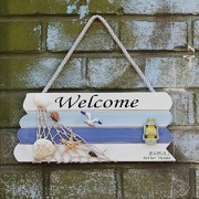 Welcome-Creative-home-Decorative-Hanging-Ornaments-Wood-Sign-Boat-Beach-Handcrafted-Nautical-Decor-0-0