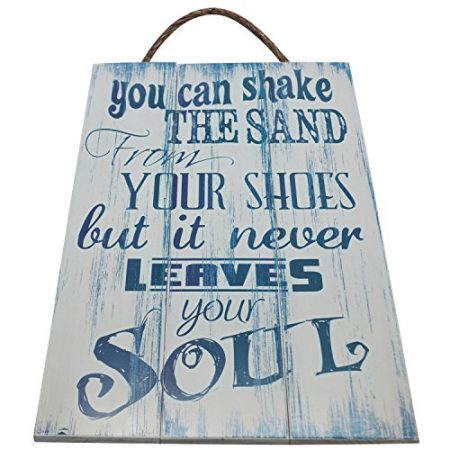 You-Can-Shake-The-Sand-From-Your-Shoes-But-It-Never-Leaves-Your-Soul-Vintage-Wood-Sign-For-Beach-House-Wall-Decor-Or-Gift-PERFECT-BEACH-HOUSE-DECOR-0-450x450 100+ Wooden Beach Signs and Wooden Coastal Signs