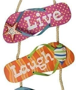 Youngs-Flip-Flop-MetalWood-Wall-Sign-16-Inch-0-254x300 Best Flip Flop Decor