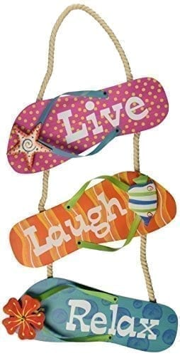 Youngs-Flip-Flop-MetalWood-Wall-Sign-16-Inch-0 Best Flip Flop Decor