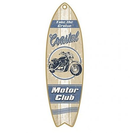 coastal-motor-club-wooden-sign-450x450 100+ Wooden Beach Signs and Wooden Coastal Signs