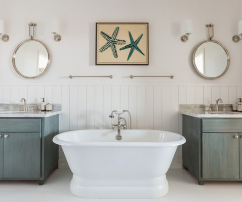 simple bathroom beach decor ideas
