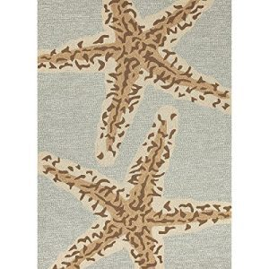 5-x-75-Ash-Gray-and-Sandstone-Tan-Grant-Sea-Star-Outdoor-Area-Throw-Rug-0