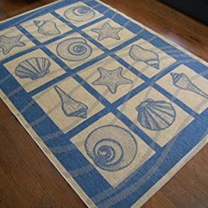 Coastal-Seashell-IndoorOutdoor-Blue-Ivory-Area-Rug-53-W-X-76-L-0