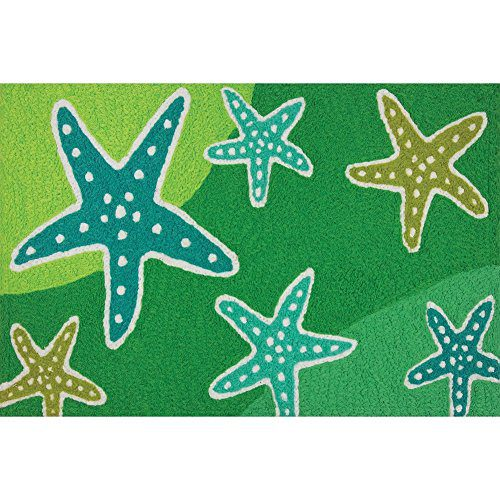 Cool-Starfish-Stream-Shades-of-Green-Washable-21-X-33-Area-Accent-Jellybean-Rug-0