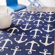 Handmade-Novelty-Trellis-Nautical-Anchors-Area-Rugs-0-0