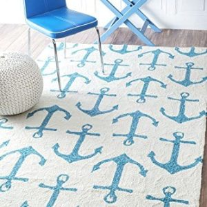 Handmade-Novelty-Trellis-Nautical-Anchors-Area-Rugs-0