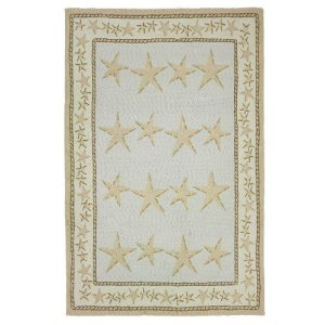 Homefires-Starfish-Toss-5-Feet-by-7-Feet-Indoor-Hand-Hooked-Area-Rug-0-300x300 41 of Our Favorite Starfish Area Rugs