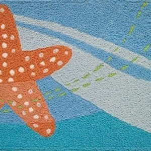 Jellybean-Indoor-Outdoor-Machine-Washable-Starfish-Rug-0-300x300 The Ultimate Guide to Nautical Themed Area Rugs