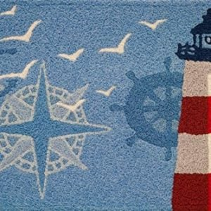 Jellybean-Ocean-Outpost-Red-White-Lighthouse-Compass-Anchor-Accent-Rug-0-300x300 The Ultimate Guide to Nautical Themed Area Rugs