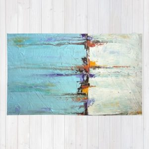 Nautical-Area-Rug-White-and-Blue-Home-Decor-Abstract-Seascape-0-300x300 The Ultimate Guide to Nautical Themed Area Rugs