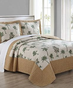 3-Piece-Barbados-GreenBrown-Quilt-Set-0-247x300 The Best Palm Tree Comforter and Bedding Sets