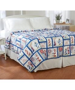 Ashley-Cooper-Nautical-Lighthouse-Quilt-in-Queen-Size-0-247x296 100+ Nautical Bedding Sets