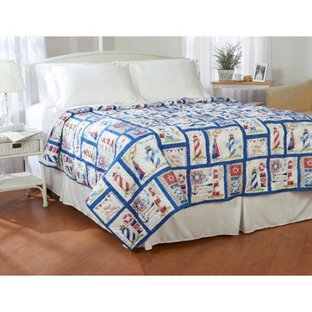 Ashley-Cooper-Nautical-Lighthouse-Quilt-in-Queen-Size-0-450x450 The Best Nautical Quilts and Nautical Bedding Sets