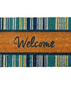 Blue-Striped-Welcome-Coir-Doormat-18-x-28-0