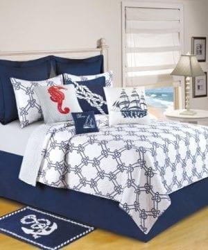 C-F-Enterprises-Knotty-Buoy-Quilt-0-300x360 200+ Nautical Bedding Sets and Nautical Comforter Sets