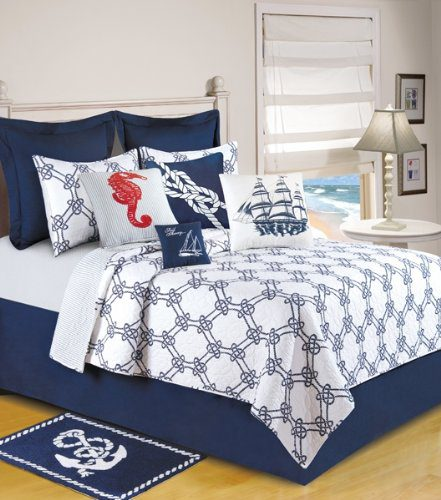 C-F-Enterprises-Knotty-Buoy-Quilt-0 The Best Nautical Quilts and Nautical Bedding Sets
