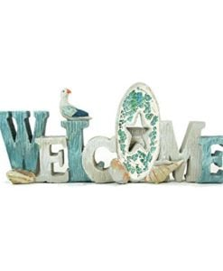 Coastal-Collection-Welcome-Table-Top-Sign-with-Crushed-Glass-Accent-0