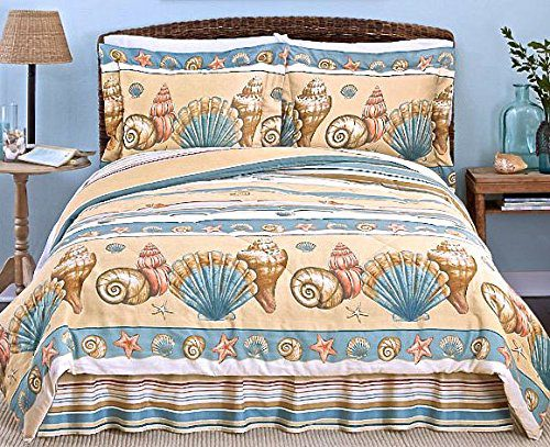 comforters quilts co comforter themed quilt seashell beach theme bedding sets bedrooms acnc queen