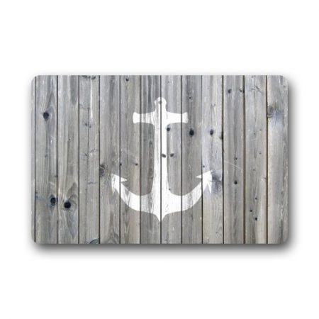 DailyLifeDepot-Generic-Machine-Clean-Top-Fabric-Non-Slip-Rubber-Backing-Durable-Indoor-Outdoor-Doormat-Door-Mats-Retro-Gray-Wood-Pattern-Anchor-Print-Design-0-450x450 Nautical Anchor Decor