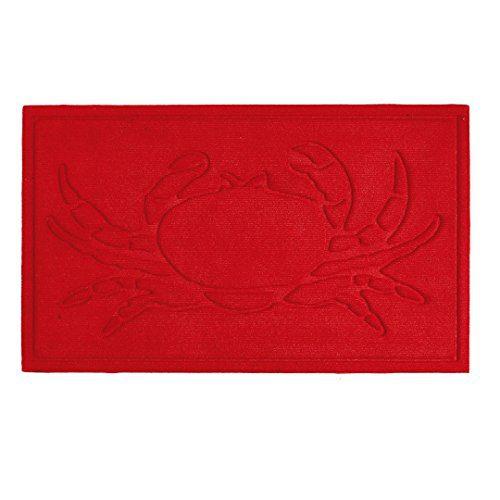 Decorative-Nautical-Crab-Red-IndoorOutdoor-Doormat-0