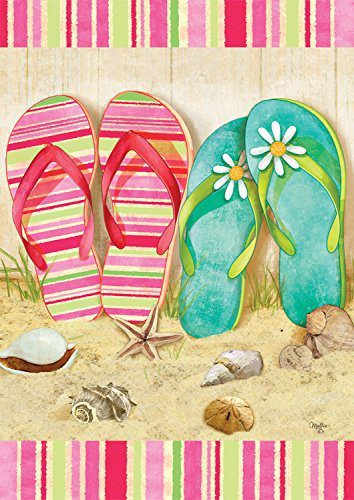Flip-Flop-Summer-Garden-Flag-Seashells-Beach-Starfish-125x18-0 Best Flip Flop Decor