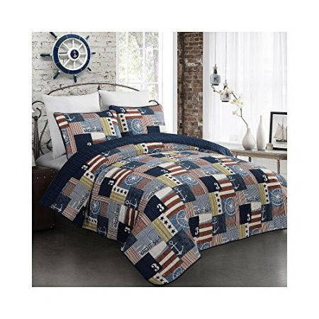 Fraser-Nautical-Flag-Quilt-Set-0-450x450 The Best Nautical Quilts and Nautical Bedding Sets