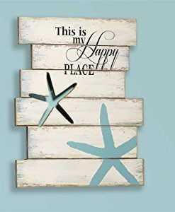 Giftcraft-19-Starfish-and-Beach-Sign-with-This-is-My-Happy-Place-Quote-0